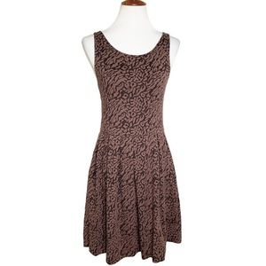 Anthropologie Quilted Cheetah Pocket Dress